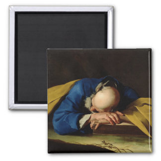 St. Peter or St. Jerome Sleeping, c.1735-39 2 Inch Square Magnet