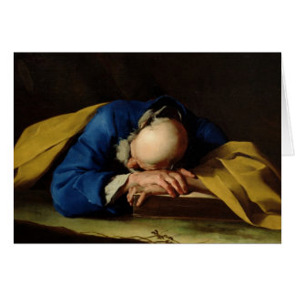 St. Peter or St. Jerome Sleeping, c.1735-39 Card