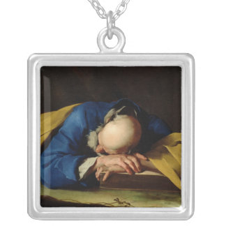 St. Peter or St. Jerome Sleeping, c.1735-39 Square Pendant Necklace
