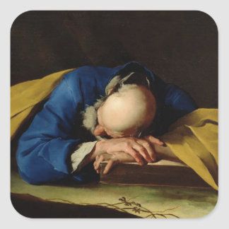St. Peter or St. Jerome Sleeping, c.1735-39 Square Sticker
