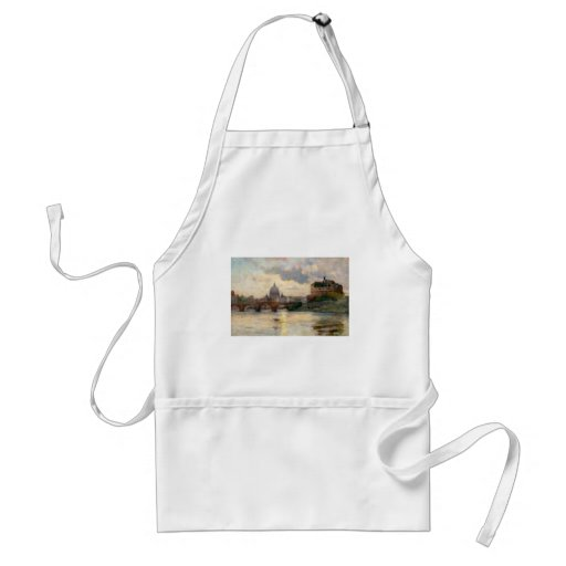 St Peter's Rome From The Tiber Adult Apron