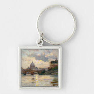 St Peter's Rome From The Tiber Keychain