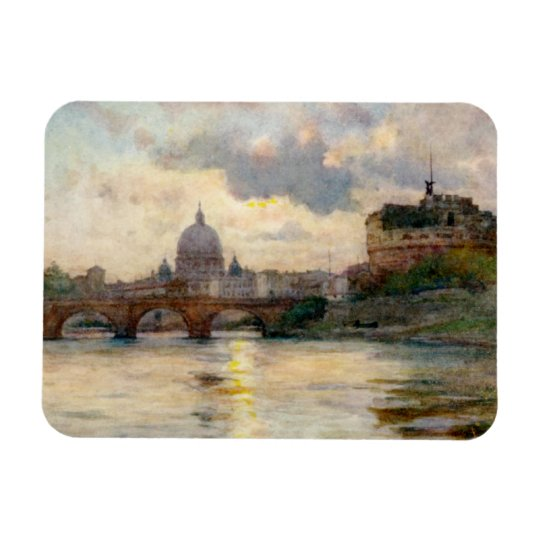 St Peter's Rome From The Tiber Magnet
