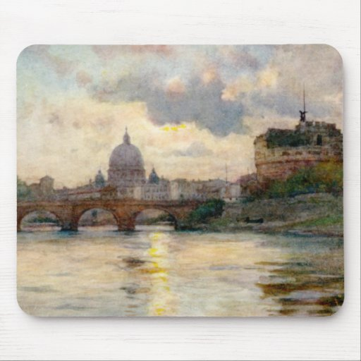 St Peter's Rome From The Tiber Mouse Pad