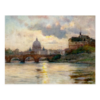 St Peter's Rome From The Tiber Postcard