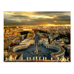 St. Peter Square, Rome Italy - Postcard