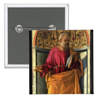 St. Peter (tempera on canvas) Pinback Button