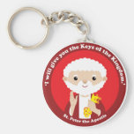St. Peter the Apostle Basic Round Button Keychain