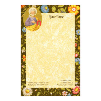 """St. Peter the Apostle (PM 07) 5.5""""x8.5"""" Stationery"""