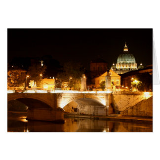 St. Peter's at Night Greeting Card