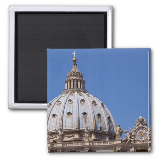 St Peter's Basilica 2 Inch Square Magnet
