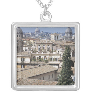 St Peters Basilica 2 Square Pendant Necklace