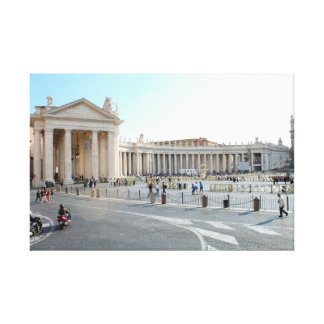 St Peter's Basilica and Columns in Vatican City. Canvas Print