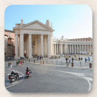St Peter's Basilica and Columns in Vatican City. Coasters
