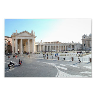St Peter's Basilica and Columns in Vatican City. Photograph