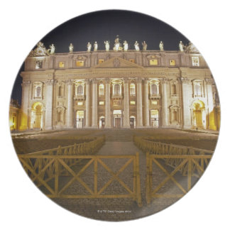 St Peter's basilica at night Dinner Plates