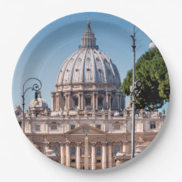 St. Peter's Basilica Paper Plate