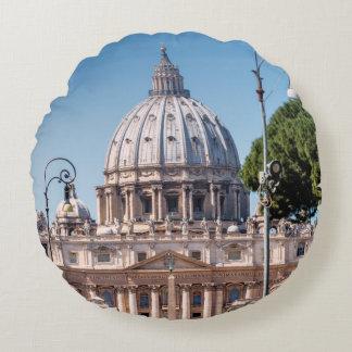 St. Peter's Basilica Round Pillow