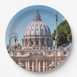 St. Peter's Basilica 9 Inch Paper Plate