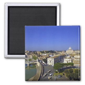 St. Peter's Basilica, State of the Vatican City 2 Inch Square Magnet
