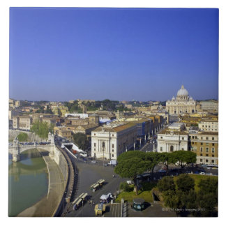 St. Peter's Basilica, State of the Vatican City Large Square Tile