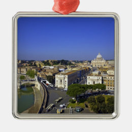 St. Peter's Basilica, State of the Vatican City Metal Ornament