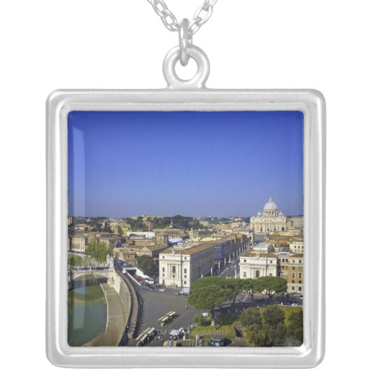 St. Peter's Basilica, State of the Vatican City Silver Plated Necklace