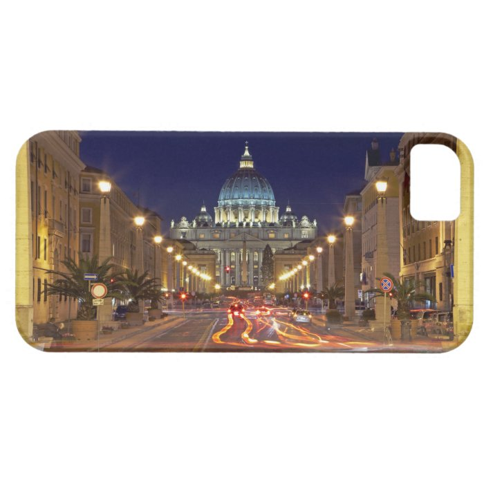 St Peter's Basilica toward end of road at night iPhone SE/5/5s Case