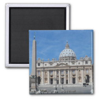 St Peter's Basilica- Vatican City 2 Inch Square Magnet
