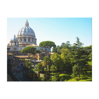 St. Peter's Basilica, Vatican City, Rome, Italy Canvas Print