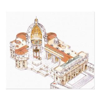 St. Peter's Basilica. Vatican City Rome. Italy Canvas Print