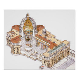 St. Peter's Basilica. Vatican City Rome. Italy Poster