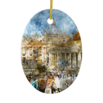 St. Peters Basilica Vatican in Rome Italy Ceramic Ornament