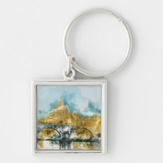 St. Peters Basilica Vatican in Rome Italy Keychain