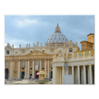 St. Peters Basilica Vatican in Rome Italy Photo Print