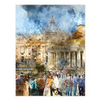 St. Peters Basilica Vatican in Rome Italy Postcard
