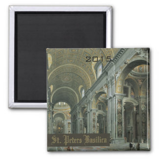 St Peters Basilica Vatican Magnet Change Year
