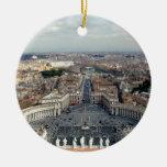 St. Peter's Basilica Views Christmas Tree Ornaments