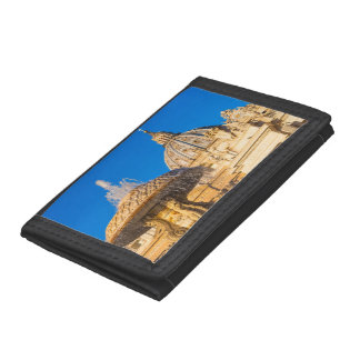 St Peter's Cathedral and fountain Rome Italy Trifold Wallet