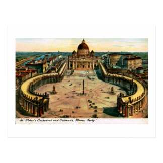 St. Peter's Cathedral, Rome, Italy Vintage Postcard