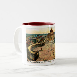 St. Peter's Cathedral, Rome, Italy Vintage Two-Tone Coffee Mug