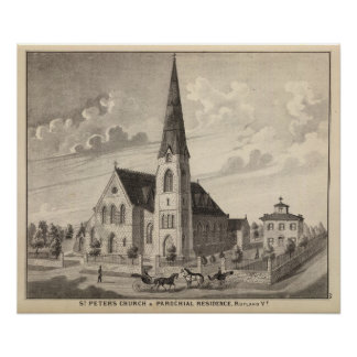 St Peter's Church and parochial residence Print