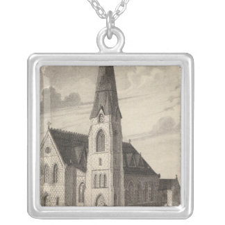 St Peter's Church and parochial residence Square Pendant Necklace