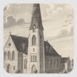 St Peter's Church and parochial residence Square Sticker