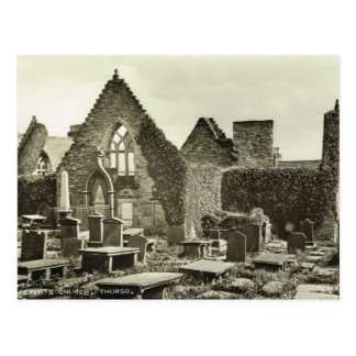 St Peter's Church Thurso, Scotland Postcard