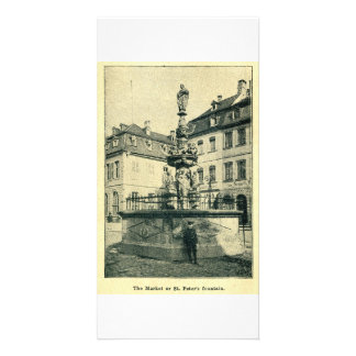 St. Peter's Fountain, Trier, Treve Customized Photo Card
