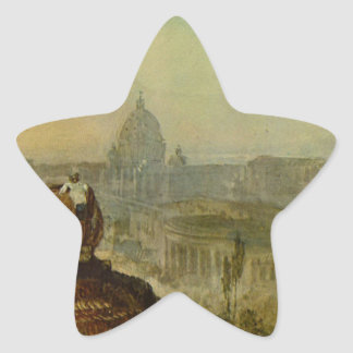 St. Peter's from the south by William Turner Star Sticker