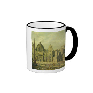 St. Peter's, Rome, 1630 (oil on canvas) Ringer Coffee Mug