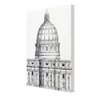 St. Peter's, Rome Canvas Print