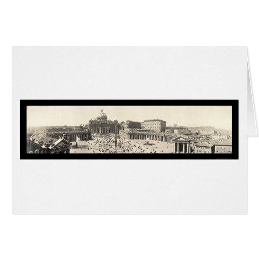 St Peter's Rome, Italy Photo 1909 Greeting Cards
